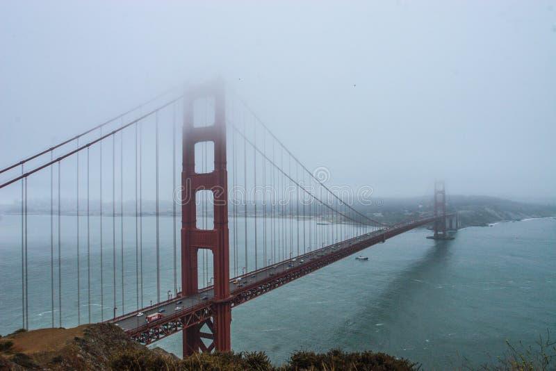 Pont San Francisco la Californie en porte d'or image libre de droits