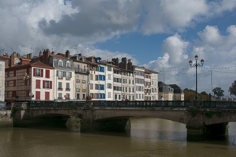 Pont sur l'Adour à Bayonne photo stock