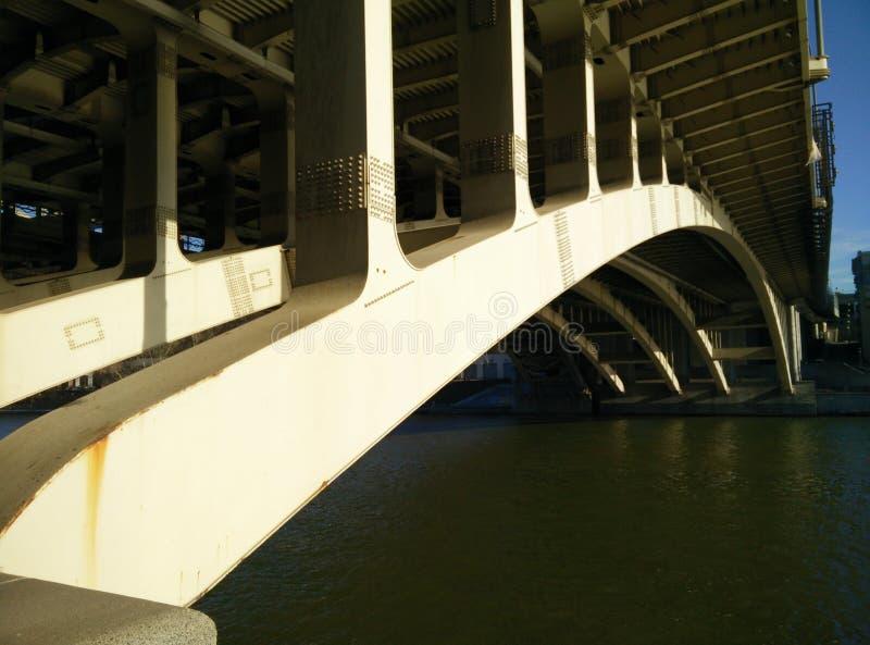 Pont sur la rivière de Moscou image stock