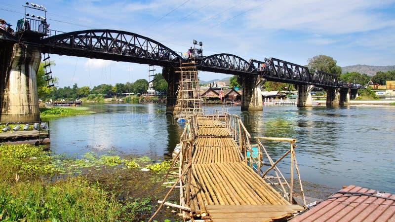 Pont sur la rivière Kwai. photographie stock