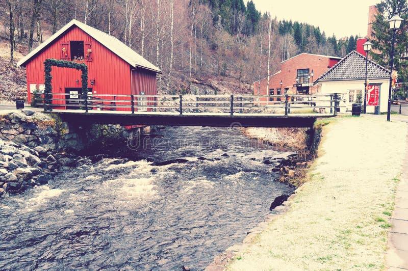 Pont sur la rivière Lomma photographie stock