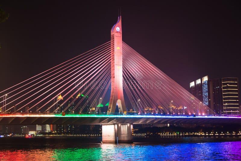 Pont sur Pearl River photographie stock libre de droits