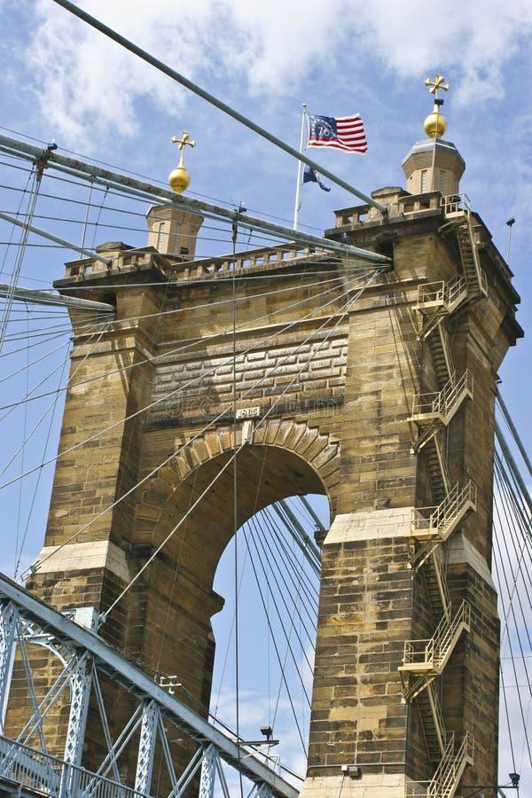 Pont suspendu de Roebling photos stock