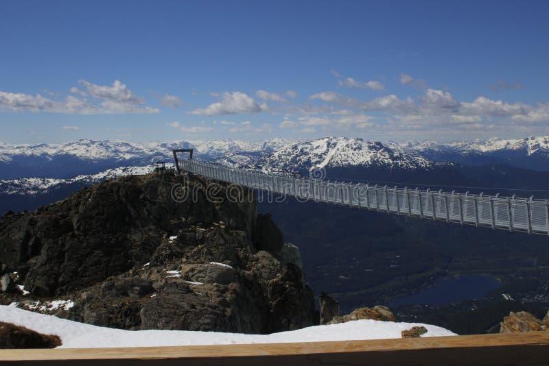 Pont suspendu de Whistler dans le Canada de Colombie-Britannique ce sera le plus haut pont suspendu dans le Canada, et sera photo stock