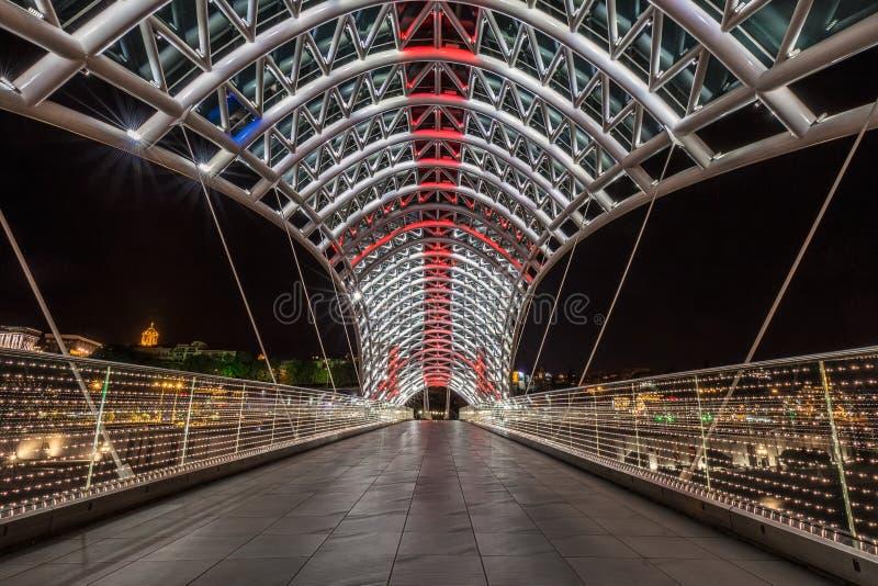 Pont Tbilisi de paix photo stock