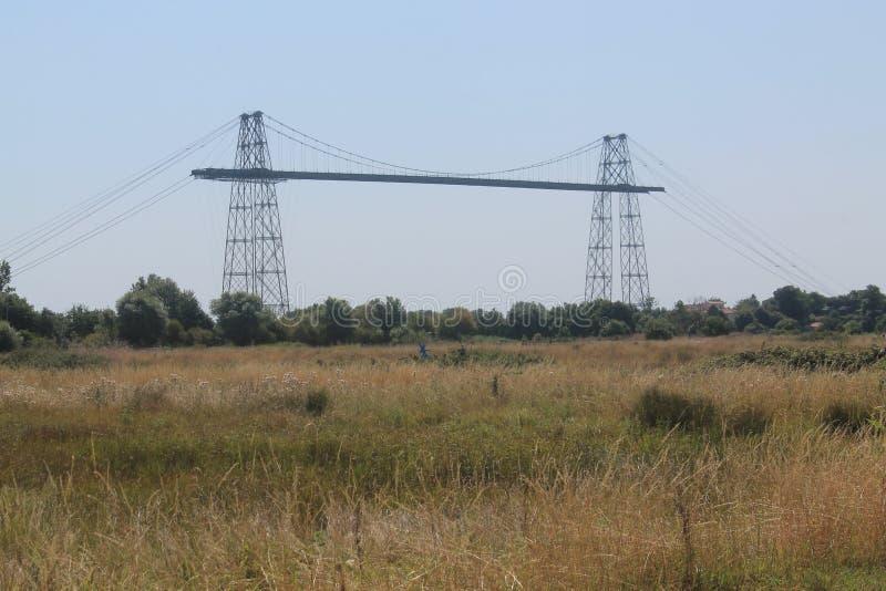 Pont transbordeur de Rochefort (法国) 免版税库存图片