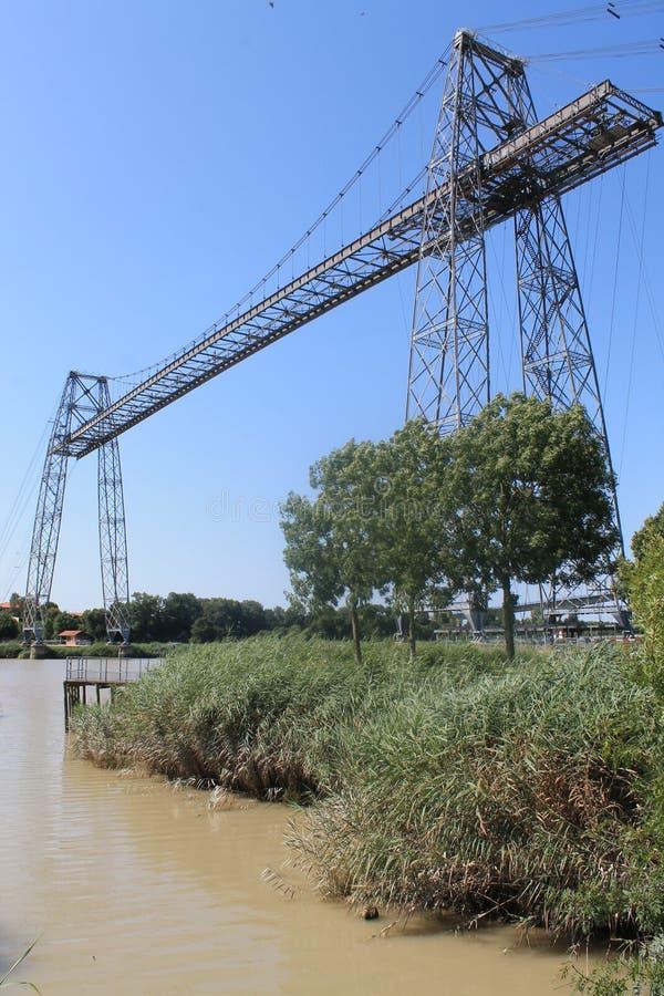Pont transbordeur de Rochefort (法国) 免版税库存照片