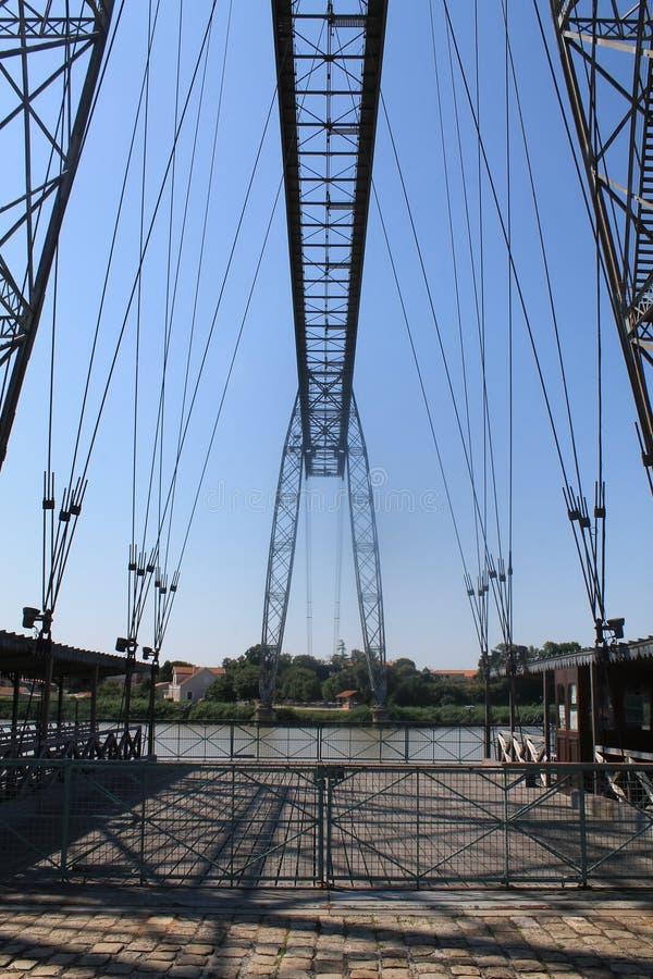 Pont transbordeur de Rochefort (法国) 库存照片