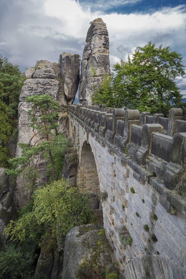 Pont unique de Bastai photos libres de droits