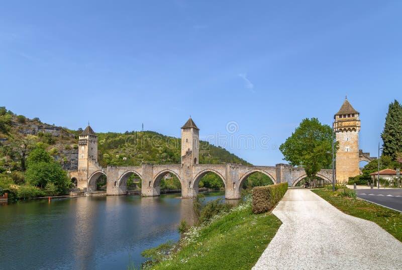 Pont Valentre, Cahors, Франция стоковая фотография