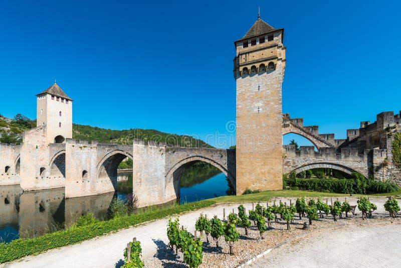 Pont Valentre in Cahors, Frankrijk royalty-vrije stock foto