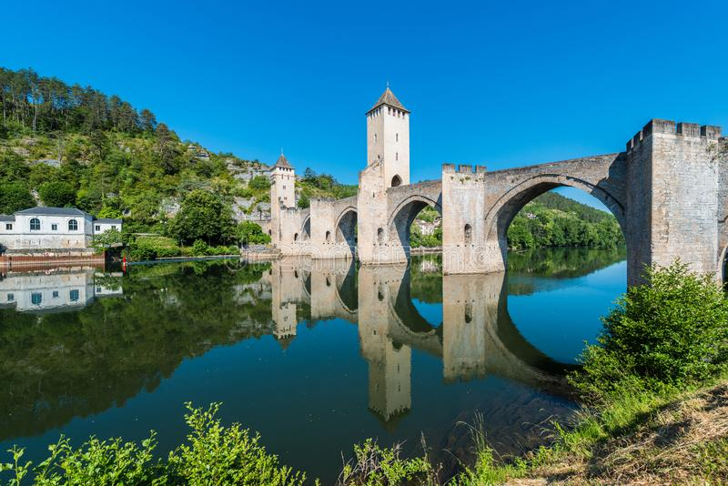 Pont Valentre in Cahors, Frankrijk royalty-vrije stock fotografie