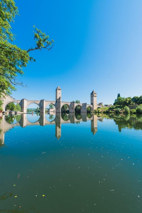 Pont Valentre in Cahors, Frankrijk royalty-vrije stock foto's