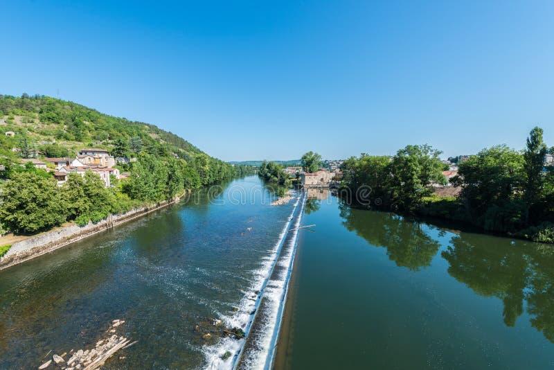 Pont Valentre in Cahors, Frankrijk stock fotografie