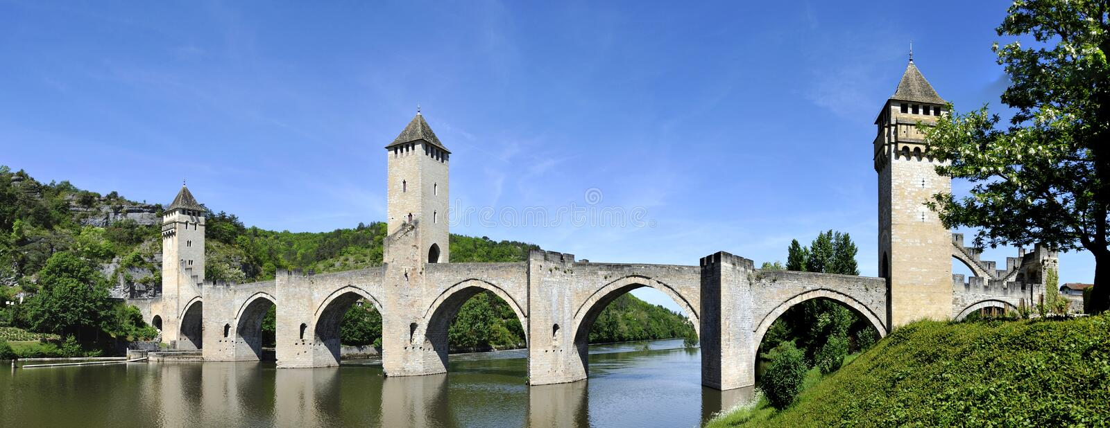 Pont Valentre in Cahors royalty free stock photography