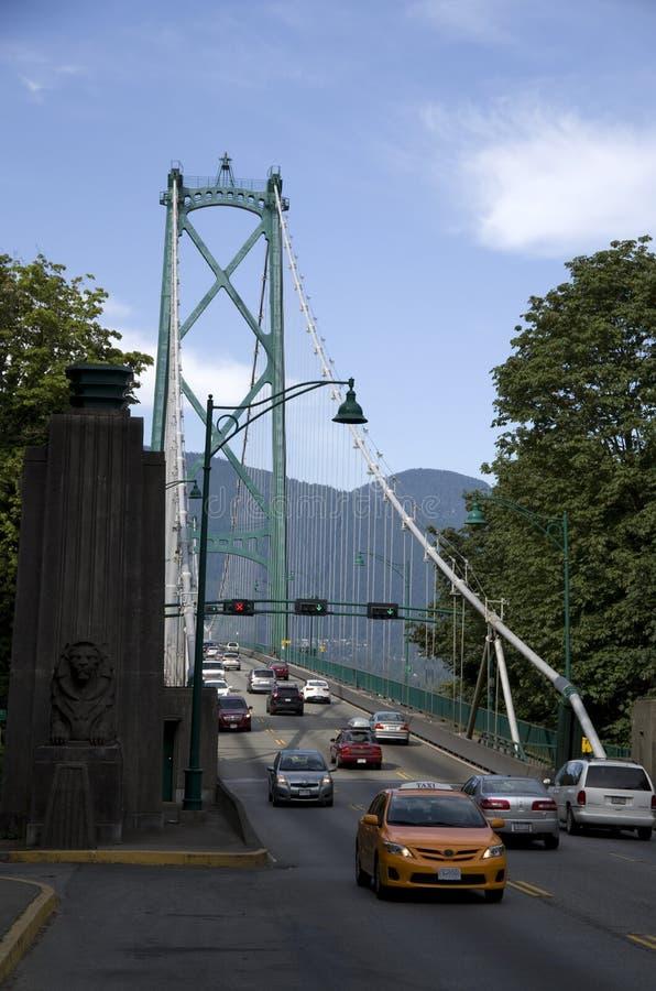 Pont Vancouver en porte de lions image stock