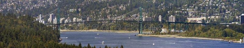 Pont Vancouver en porte de lions AVANT JÉSUS CHRIST image stock