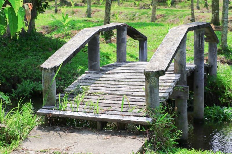 Pont vieux à travers un canal photo libre de droits