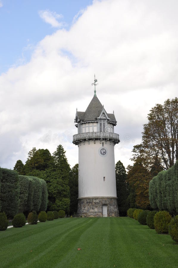 Pont-Villa und Gärten stockfotos