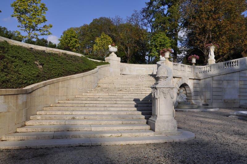 Pont-Villa und Gärten lizenzfreies stockbild