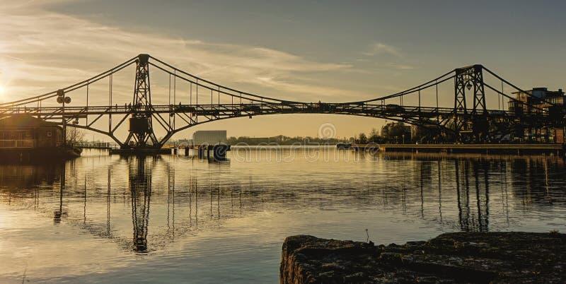 Pont Wilhelmshaven de port image libre de droits