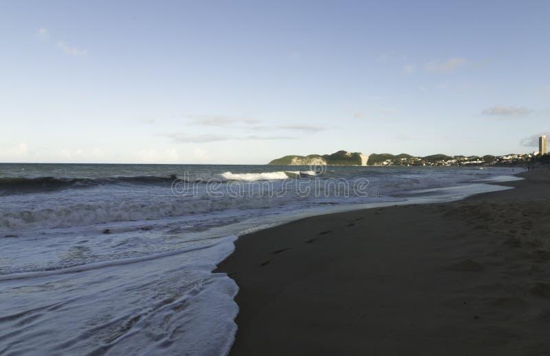 Ponta内格拉海滩和Morro做卡雷卡 图库摄影