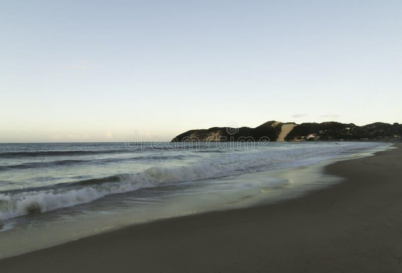 Ponta内格拉海滩和Morro做卡雷卡 库存图片
