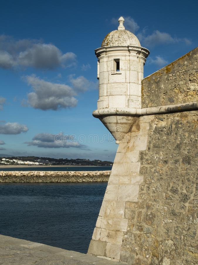 Ponta da Bandeira堡垒 库存照片
