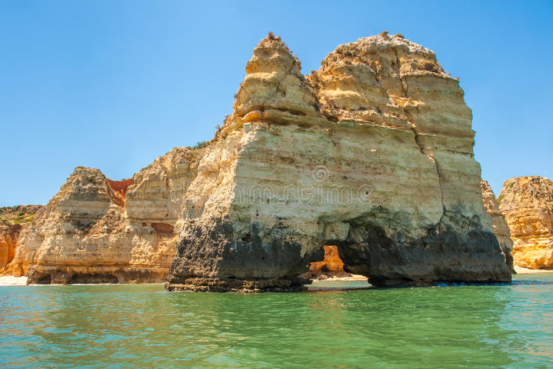 Ponta Da Piedade,拉各斯,阿尔加威,葡萄牙 免版税库存照片