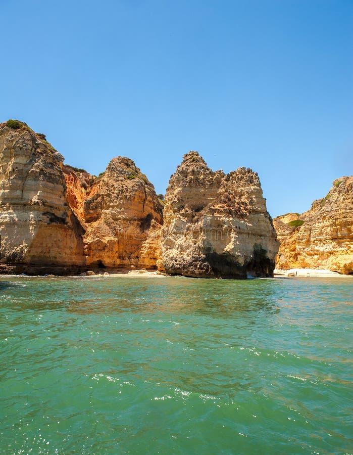 Ponta Da Piedade,拉各斯,阿尔加威,葡萄牙 免版税库存图片