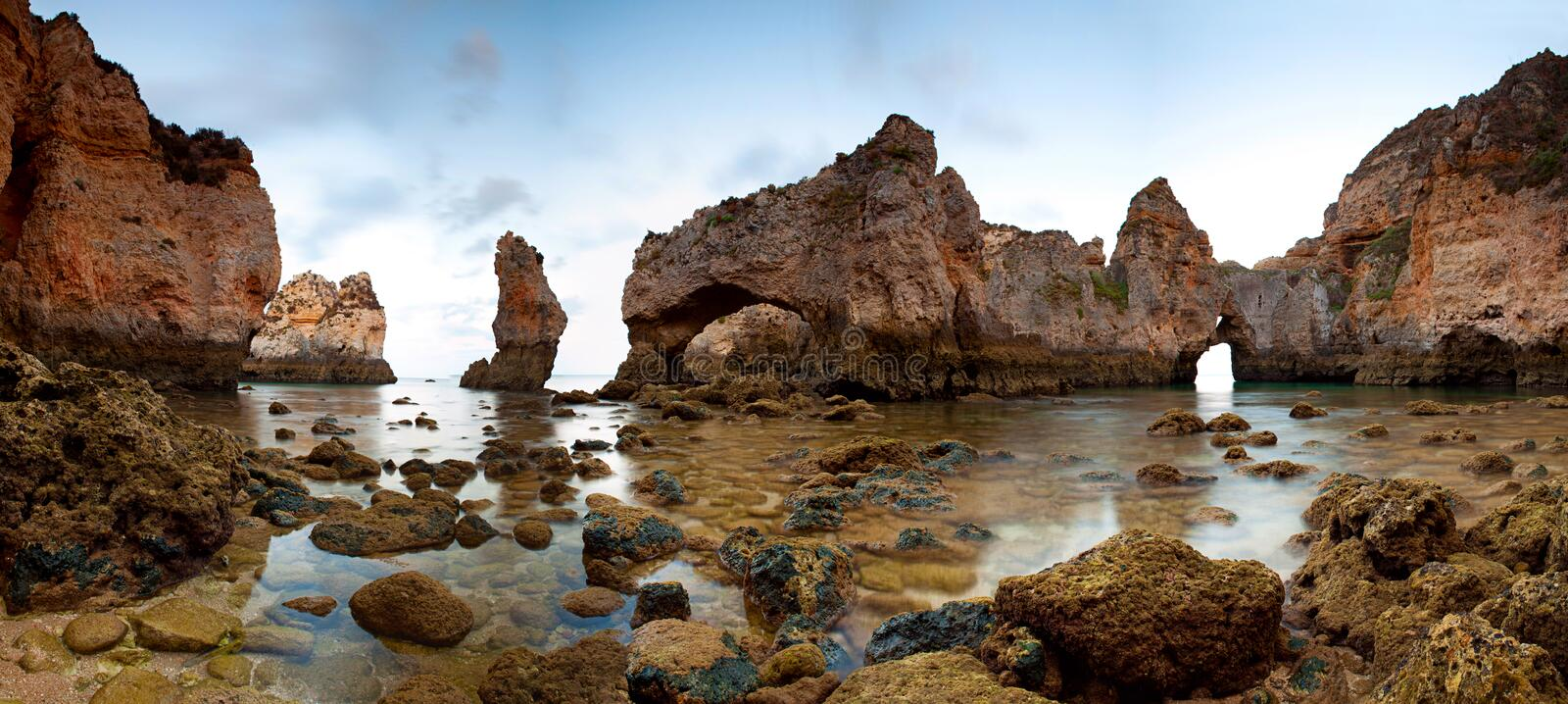 Download Ponta da Piedade stock photo. Image of rocks, water, geology - 25650466