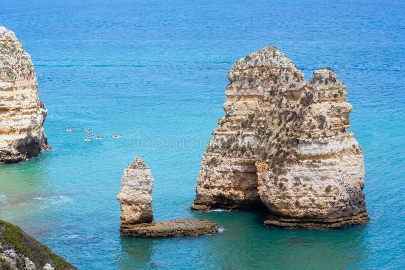 Download Ponta Da Piedade & X28; Lagos Algarve, Portugal& X29; Arkivfoto - Bild av athwart, lopp: 76701450