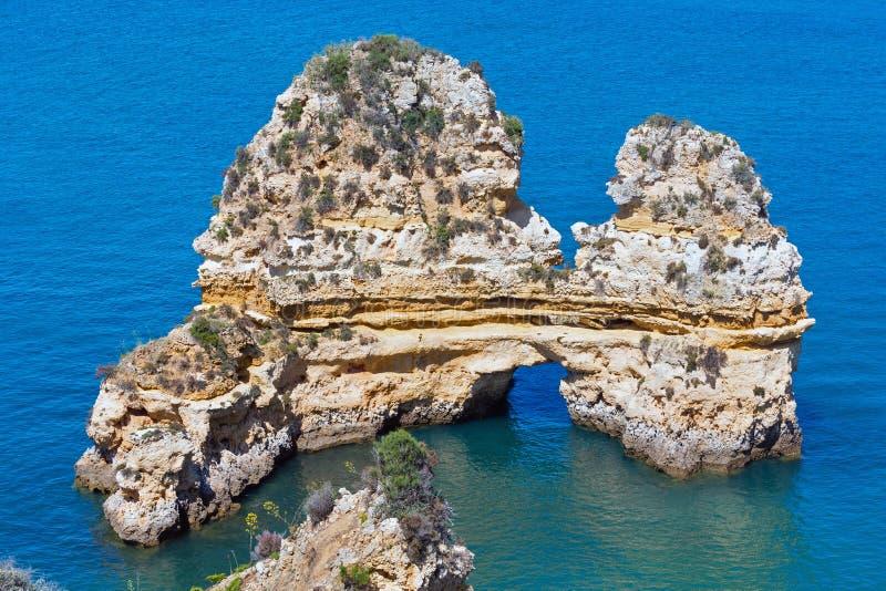 Ponta da Piedade & x28; Lagos, Algarve, Portugal& x29; immagine stock libera da diritti