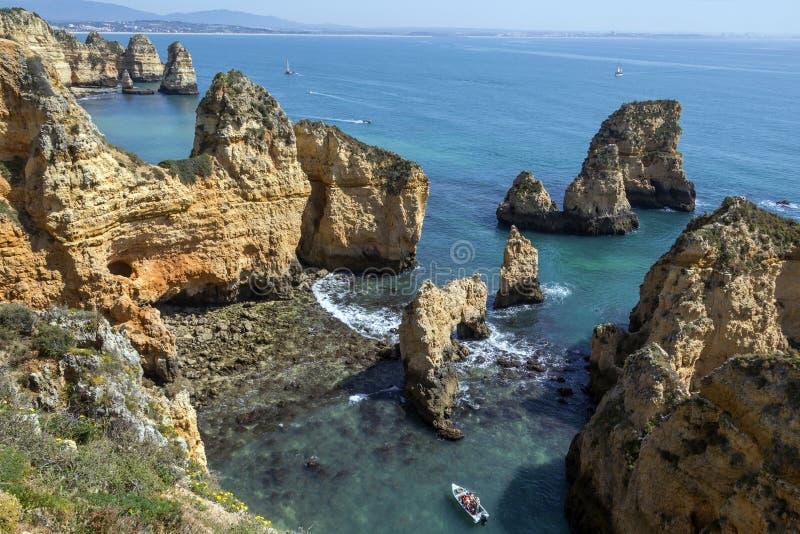 Ponta da Piedade near Lagos - Algarve - Portugal royalty free stock image
