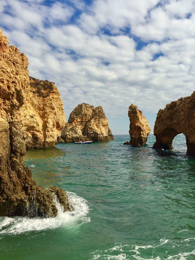 Ponta da Piedade, Portugal. Ponta da Piedade, Algarve, Portugal stock photos