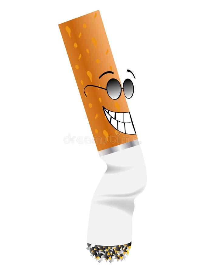 Ponta de cigarro ilustração do vetor