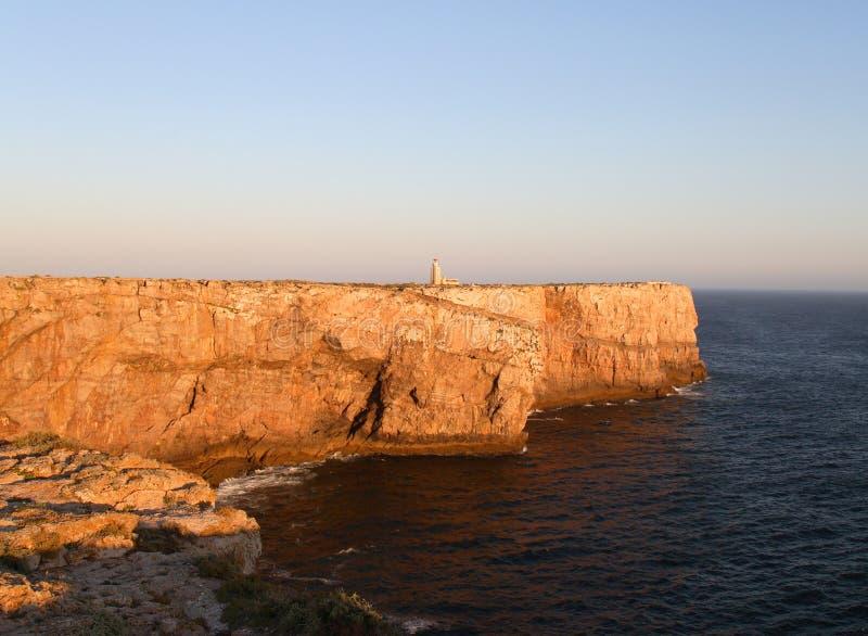 ponta de lighthouse sagres στοκ φωτογραφία