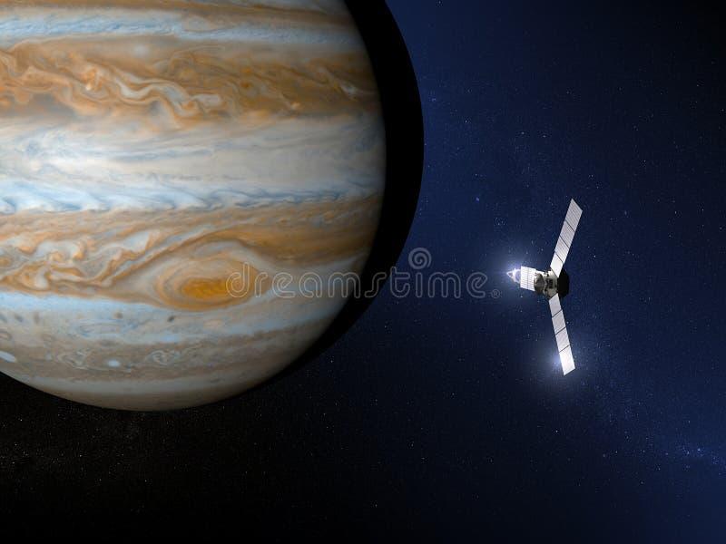 Ponta de prova de espaço do Júpiter e do Juno ilustração royalty free