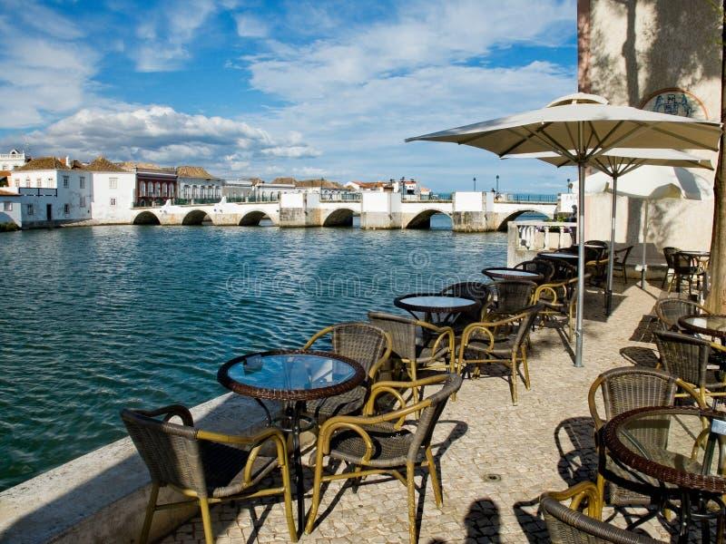 Ponta de Romana over Gilao river in Tavira, Algarve. Portugal. stock images