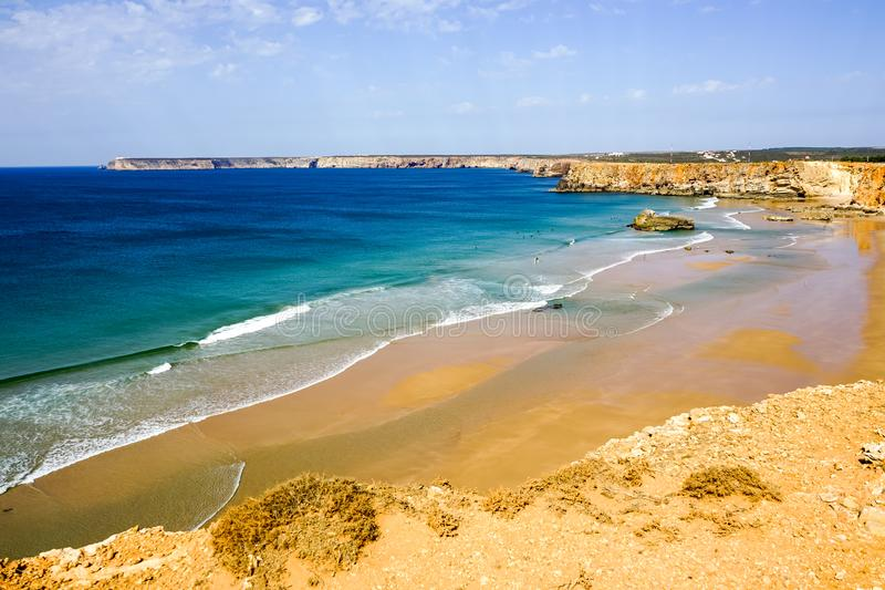 Ponta de Sagres θαυμάσιο τοπίο στοκ φωτογραφία με δικαίωμα ελεύθερης χρήσης