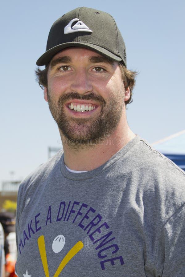 Ponta defensivo Jared Allen dos Minnesota Vikings do NFL fotos de stock royalty free