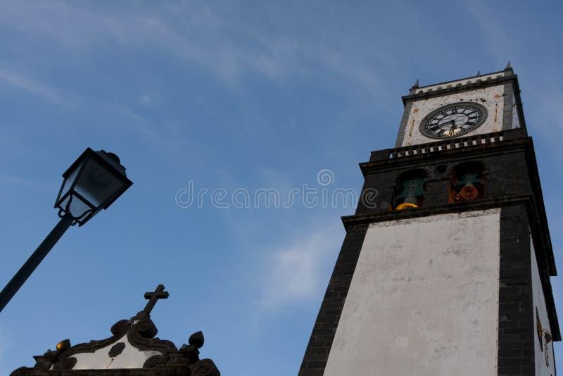 Ponta Delgada Kirche matriz stockfotografie
