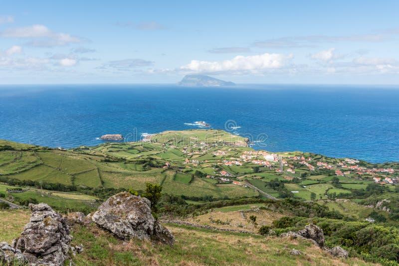 Ponta Delgada sull'isola del Flores in Azzorre, Portogallo immagine stock libera da diritti