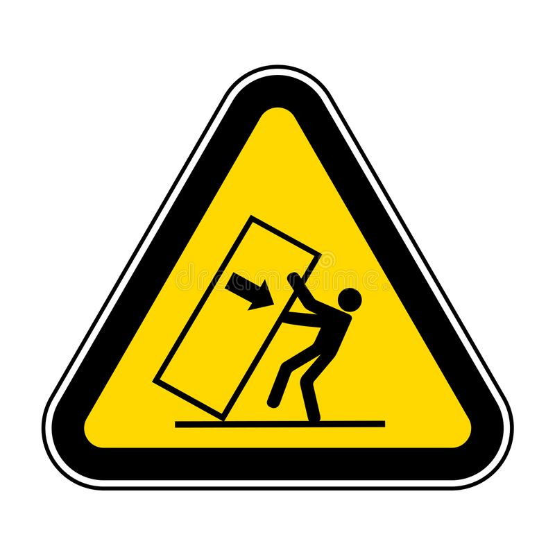 Ponta do esmagamento do corpo sobre o sinal do s?mbolo do perigo, ilustra??o do vetor, isolado na etiqueta branca do fundo EPS10 ilustração stock