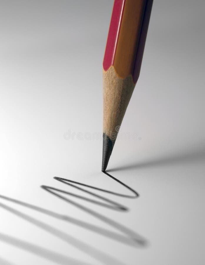 Ponta do lápis fotografia de stock
