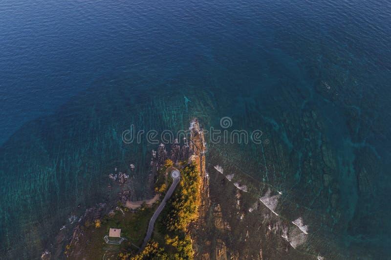 Ponta do ponto de opinião de Bornéu de cima de, Sabah, Malásia fotos de stock royalty free