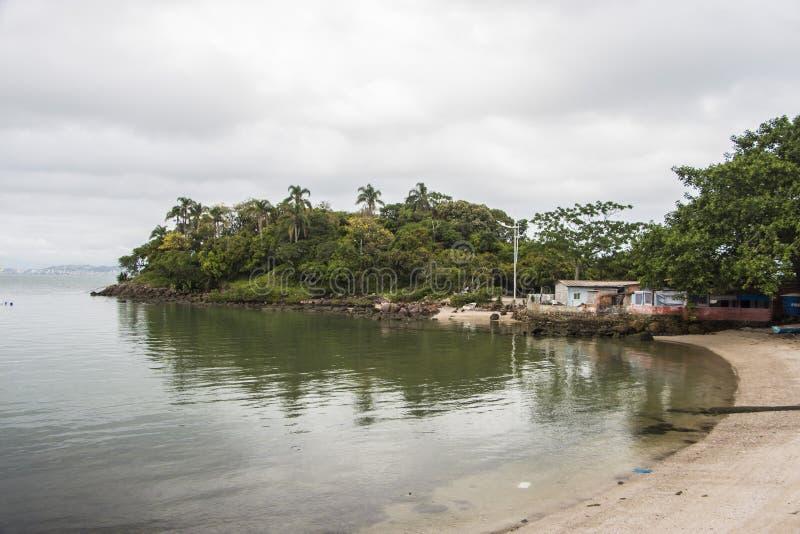 Ponta font Sambaqui - Florianópolis/SC - le Brésil photographie stock libre de droits