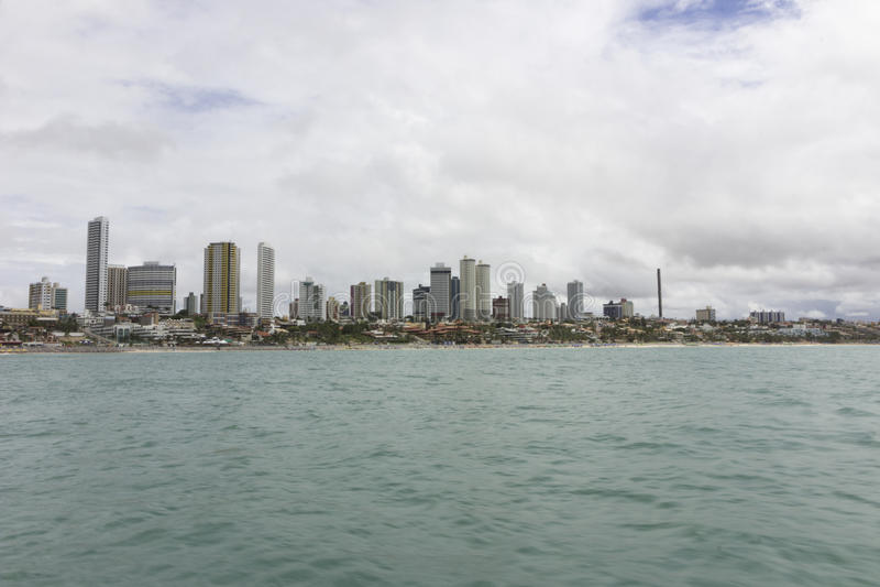 Ponta Negr plażowy Natal, RN, Brazylia fotografia stock