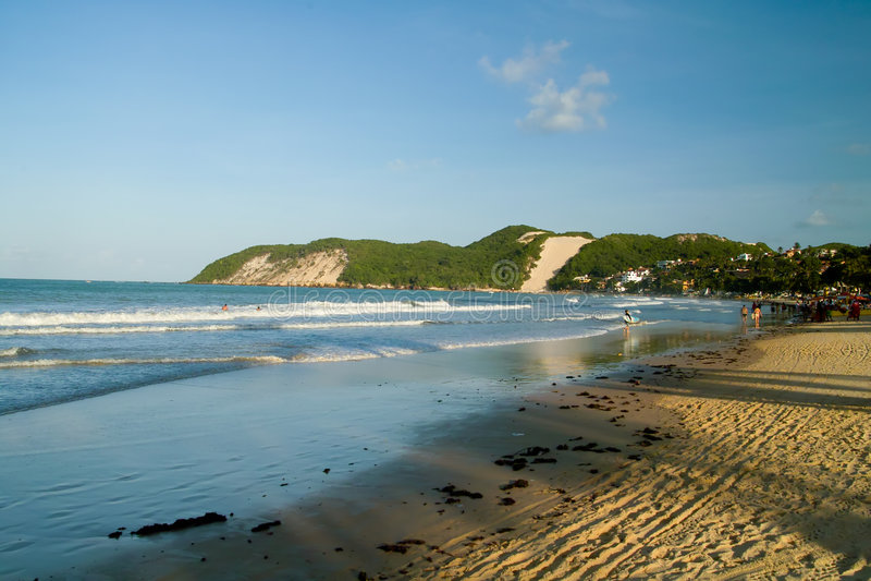 Ponta Negra Strand stockfoto