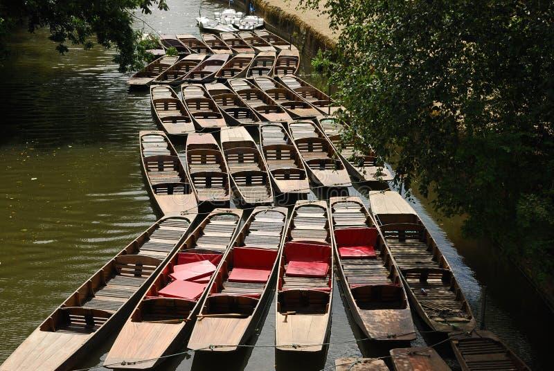 Pontapés no canal de Oxford imagens de stock royalty free
